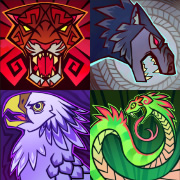 "The four ""role"" icons from Dawngate"