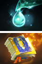 Icons for Infused Raindrop and Tome of Experience